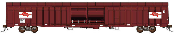 Auscision HO SLV-9 ABFY Louvered Van SCT Maroon (ex ANR) 4 Car Pack