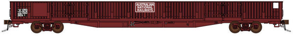 Auscision HO SOW-3 GOX Open Wagon with doors, Australian National Railways Red, 4 Car Pack