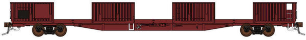 Auscision HO SOW-9 RKWF Open Wagon without doors, ANR Red, 4 Car Pack