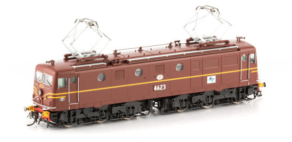 Auscision HO 46-7 4623 Indian Red with Blue/Black L7 Logo and Buffers 46 Class Locomotive
