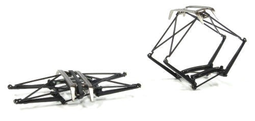 Auscision HO Victorian Pantographs Early Style Black - 1 Pair