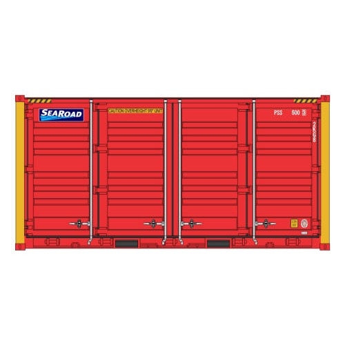 Auscision HO CON-126 20ft Side Door Container SeaRoad