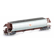 Auscision HO NHJF Coal Hopper State Rail (Candy L7) PTC Red & Silver 6 car pack #1