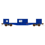 Auscision HO NOJY Open Wagon Doors Removed Freight Rail Blue 4 Pack
