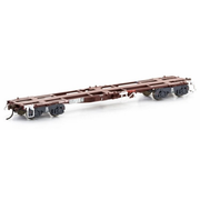 Auscision HO NQIW 45ft Container Wagon State Rail L7 Indian Red 5 Car Pack