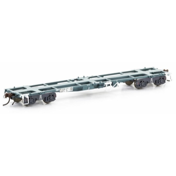 Auscision HO RQIW 45ft Container Wagon National Rail Blue/Grey 5 Car Pack