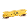 Auscision HO VGH-27 VHGY Grain Hopper VR Yellow 4 car pack