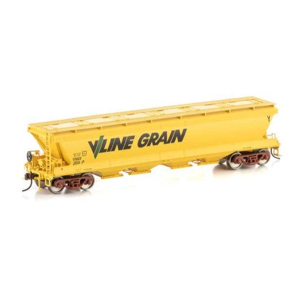Auscision HO VGH-30 VHGF Grain Hopper V/Line Grain Yellow 4 car pack