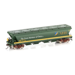 Auscision HO VGH-33 VHGF Grain Hopper ABB Green/Yellow 4 car pack