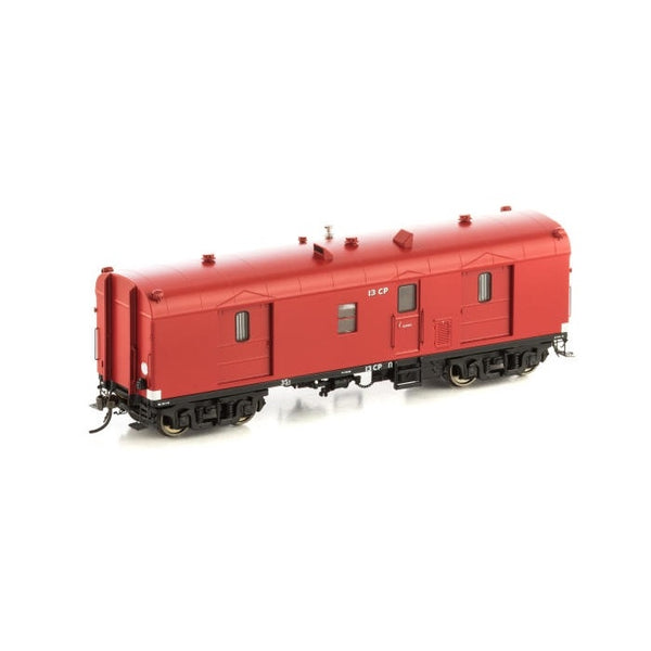 Auscision HO VGV-5 VVCP Guards Van VR Passenger Car Red 2pk
