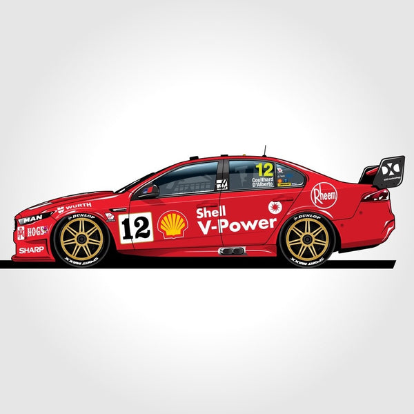 Authentic Collectables 1/12 Shell V-Power Racing Team #12 Ford FGX Falcon 2018 Sandown 400 Retro Round