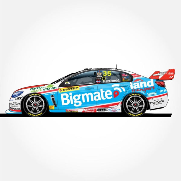 Authentic Collectables 1/18 Bigmate/Matt Stone Racing Holden VF Commodore 2017 Dunlop Super2 Series Champion Todd Hazelwood