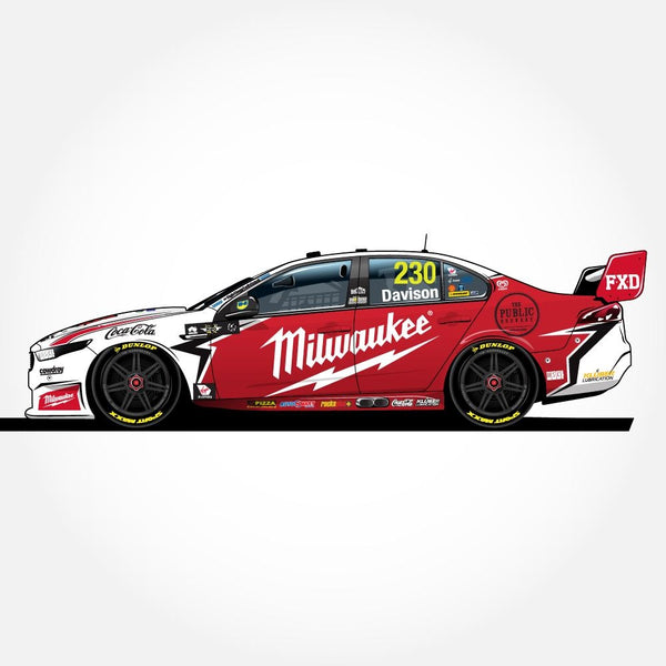 Authentic Collectables 1/64 Milwaukee/23Red Racing Ford FGX Falcon 2018 Supercars Will Davison