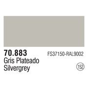 Vallejo 70883 Modelcolor SilverGrey 17ml Paint (152)