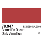 Vallejo 70947 Modelcolor Dark Vermilion 17ml Paint (029)