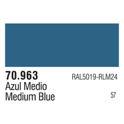 Vallejo 70963 Modelcolor Medium Blue 17ml Paint