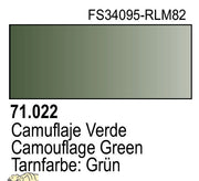 Vallejo 71022 Model Air 22: 17ml Camouflage Green Paint