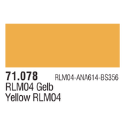 Vallejo 71078 Model Air 78: 17ml Gold Yellow Paint