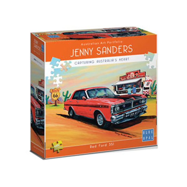 Blue Opal Deluxe Sanders Red Ford 351 Puzzle 1000pc