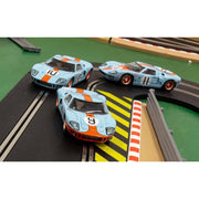 Scalextric C3896A Legends Ford GT40 Le Mans 1968 Gulf Triple Pack Limited Edition*
