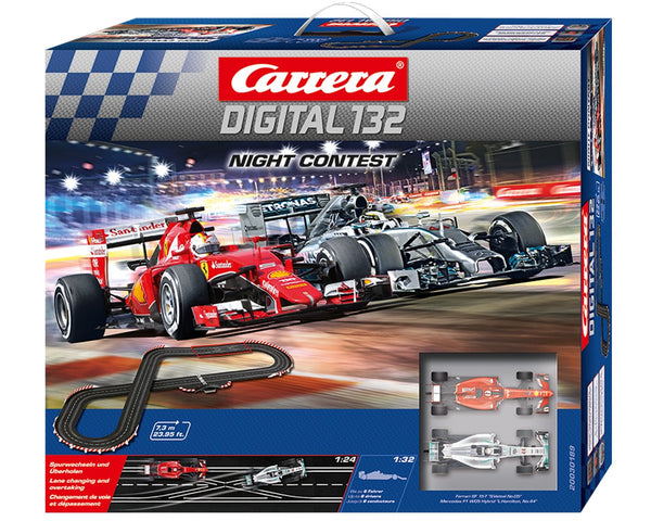 Carrera Digital 132 Night Contest Slot Car Set*