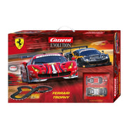 Carrera 25230 Evolution Ferrari Trophy Slot Car Set*