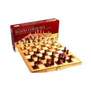 Classic Games Chess Wood 10.5in Inlaid