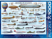 Eurographics 60086 1000pc History of Aviation