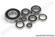 G-Force 0500-016 Chrome Ball Bearing ABEC 3 rubber shielded 8X22X7 - 608-2RS (4 pcs)
