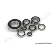 G-Force 0500-017 Chrome Ball Bearing ABEC 3 rubber shielded 10X15X4 - 6700-2RS (4 pcs)
