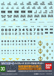Bandai MG 1/100 Multiuse Decal Earth Fed. | 145083