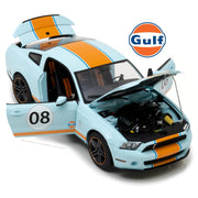 Greenlight 12990 1/18 #08 Shelby GT-500 2012 Gulf Oil Light Blue with Orange Stripe