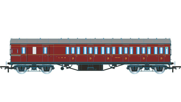 Hornby OO LMS Non-Corridor 57ft Third Class Brake Coach
