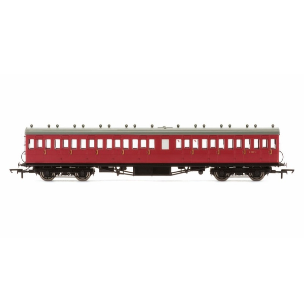 Hornby OO BR 58ft Maunsell Rebuilt (Ex-LSWR 48ft) Nine Compartment Third Class Coach Maroon*