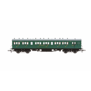 Hornby R4794 OO SR 58ft Maunsell Rebuilt (Ex-LSWR 48ft) Six Compartment Composite Brake Coach SR Green
