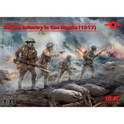 ICM 35703 1/35 British Infantry in Gas Masks WWI 1917 4 Figures