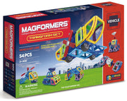 Magformers 63089 Vehicle Transform 54 Pce Set
