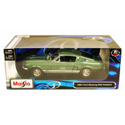 Maisto 31166GRN 1/18 1967 Ford Mustang Fastback Green