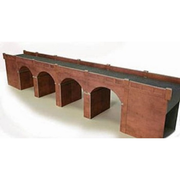 Metcalfe PO240 OO/HO Double Track Viaduct Red Brick Card Kit