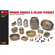 Miniart 35550 1/35 Wooden Barrels And Village Utensils