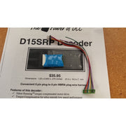 NCE DCC 0105 D15SR 8 Pin/9 Pin Decoder