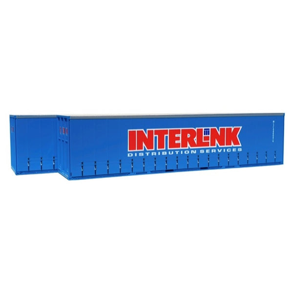On Track Models HO 40ft Curtain Sided Container Interlink