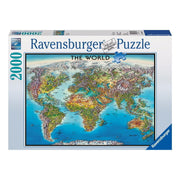 Ravensburger 16683-1 World Map Puzzle 2000pc*