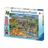 Ravensburger Animals In Africa Puzzle 200pc