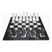 Puzzle and Games Onyx Chess Set 12in Black/White