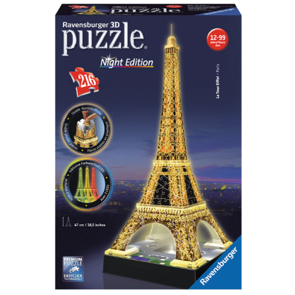 Ravensburger Eiffel Tower at Night 3D Puzzle 216pc
