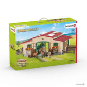Schleich 42195 Stable with Horses & Accessories