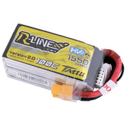 Tattu R-Line 2.0 1550mAh 4S/4 Cell 100C HV LiPo Battery with XT60 Plug*