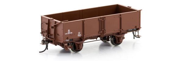 Auscision HO VFW-83 IZ Open Wagon 1955-1960 Era, VR Brown, 6 Car Pack