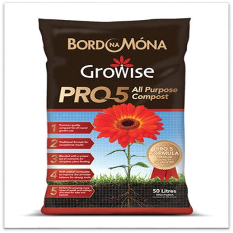 Bord Na Móna Growise Pro 5 Premium All Purpose Compost